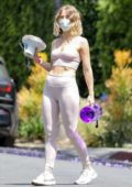 Julianne Hough displays her stunning figure in crop top and leggings while attending a brunch in Los Angeles