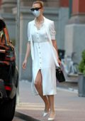 Karlie Kloss looks super chic in all-white as she steps out in New York City