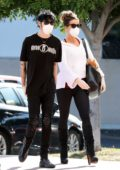 Kate Beckinsale seen arriving back to her home with boyfriend Goodie Grace in Pacific Palisades, California