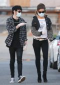 Kate Beckinsale and boyfriend Goodie Grace step out for a stroll in Malibu, California