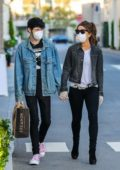 Kate Beckinsale steps out with boyfriend Goody Grace for grocery shopping at Erewhon in Pacific Palisades, California