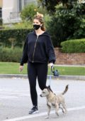 Katherine Schwarzenegger enjoys a stroll with her dog in West Hollywood, California