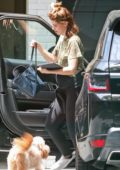 Katherine Schwarzenegger shows her baby bump as she steps out in Los Angeles