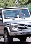 Kendall Jenner and Devin Booker seen leaving in a Mercedes G-Wagon after arriving at Van Nyus airport in Los Angeles