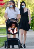 Krysten Ritter steps out for stroll with partner Adam Granduciel and their son in Los Feliz, California