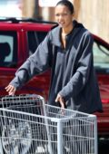 Lais Ribeiro goes grocery shopping with Joakim Noah at Vintage Grocers in Malibu, California