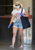 Lili Reinhart goes house hunting again today before stopping by a storage unit to pick up some clothes in Los Angeles