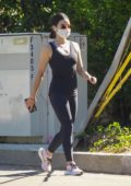 Lucy Hale sports all-black as she goes for hike in Hollywood Hills, California