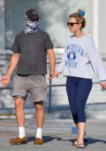 Mia Goth and Shia LaBeouf take their puppy to a vet in Pasadena, California