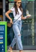 Michelle Keegan rocks ripped jeans as she stops by a pet store in Essex, UK