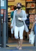 Nicole Murphy makes a quick stop for some bakery goods at Gelson's Market in Pacific Palisades, California