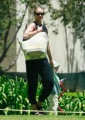Rosie Huntington-Whiteley enjoys an afternoon as she takes her son Jack to the park for playtime and a picnic in Los Angeles