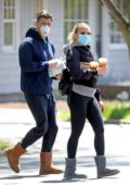 Scarlett Johansson and Colin Jost step out to run a few errands in The Hamptons, New York
