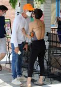 Selma Blair and Ron Carlson pack on some PDA during a coffee run at Alfred's in Studio City, California
