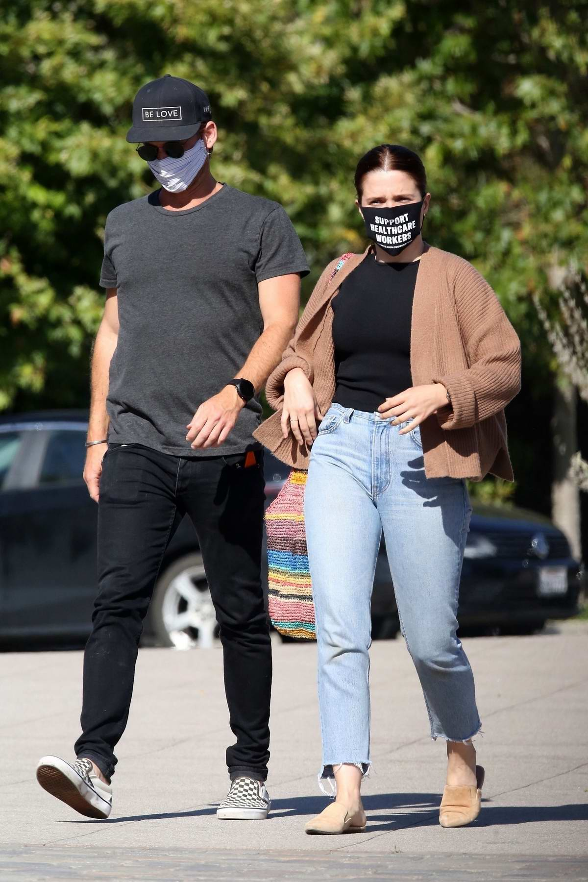 Sophia Bush steps out to run a few errands with a mystery man in Beverly Hills, California