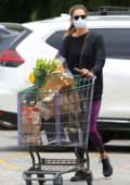 Alessandra Ambrosio makes a stop to stock up on essentials at her local Bristol Farms in Los Angeles