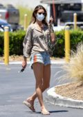 Alessandra Ambrosio rocks a pair of denim cut-offs while out shopping at Becker Surfboards shop in Malibu, California