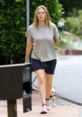 Alicia Silverstone goes makeup free while walking her dogs in Los Angeles