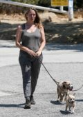Alicia Silverstone keeps it comfy in a tank top and sweatpants while out for a hike in Hollywood Hills, California