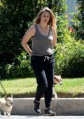 Alicia Silverstone steps out for a morning stroll with a friend in Los Angeles