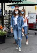 Ana de Armas and Ben Affleck seen out with Ben's daughter Violet for a grocery trip at Whole foods in Brentwood, California