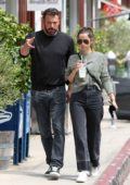 Ana de Armas and Ben Affleck step out for lunch at the Brentwood Country Mart in Brentwood, California