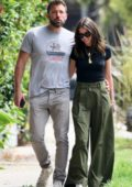 Ana de Armas and Ben Affleck wrap their arms around each other while out on a stroll in Venice Beach, California