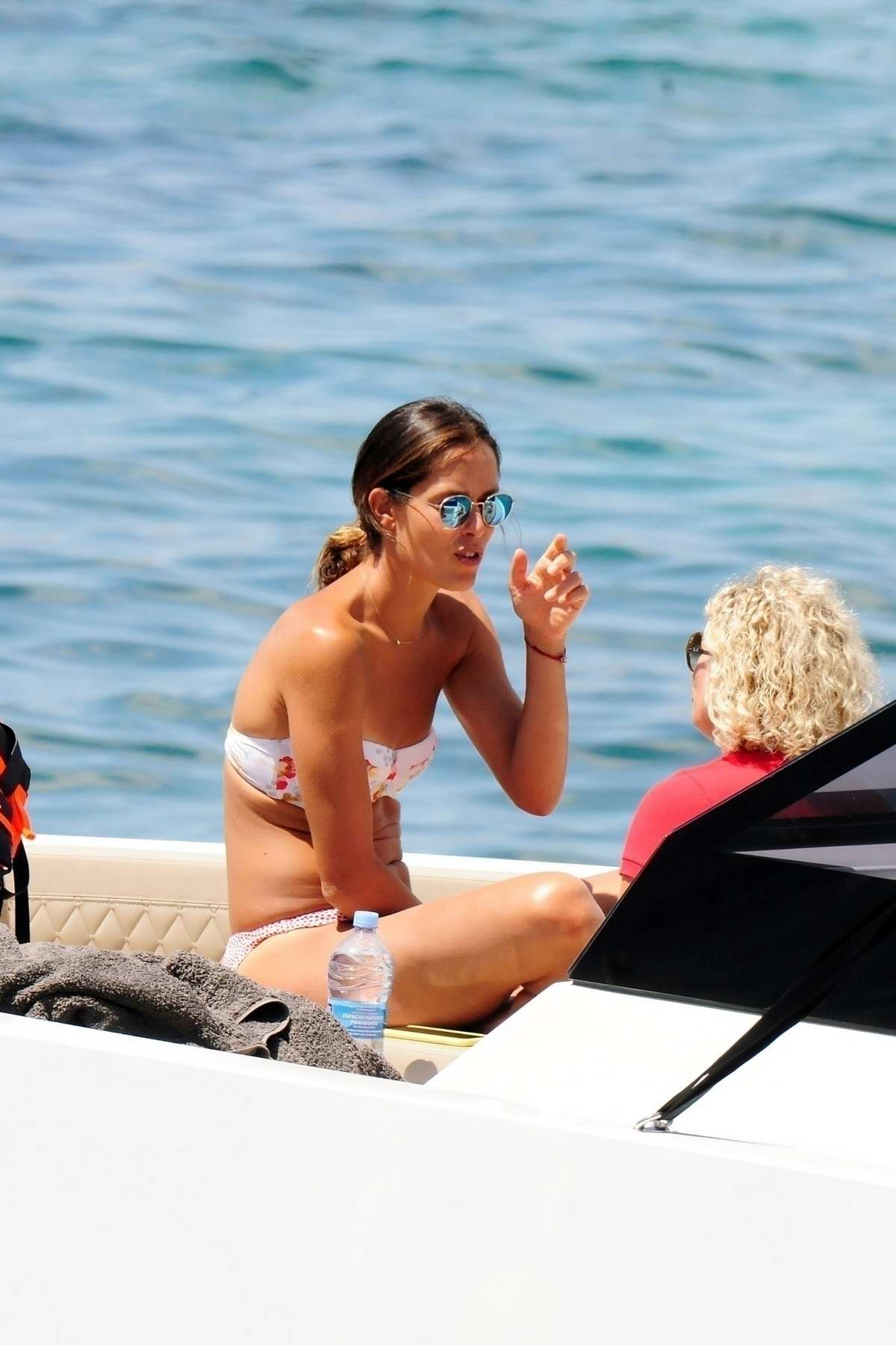 Ana Ivanovic spotted in a bikini while relaxing on a Luxury yacht with Bastian Schweinsteiger in Mallorca, Spain