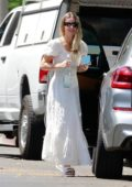 Annabelle Wallis looks great in all-white as she visits a friend in Los Angeles