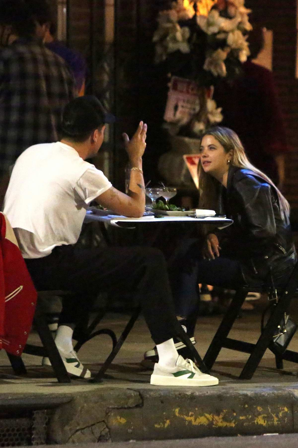 Ashley Benson and G-Eazy enjoy a romantic al fresco dinner in Los Feliz, California