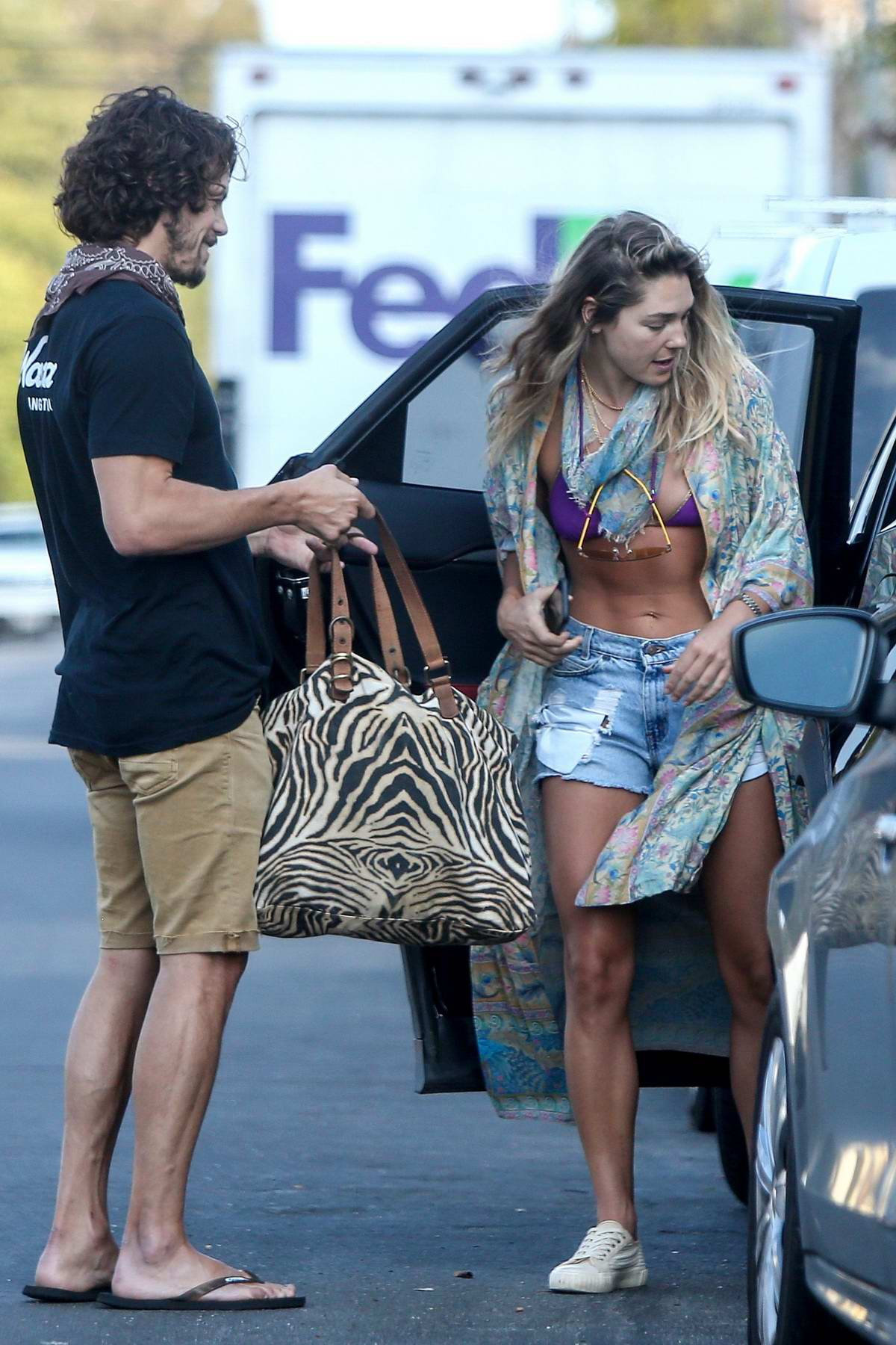 Ashley Hart seen out and about with a mystery man in Los Angeles