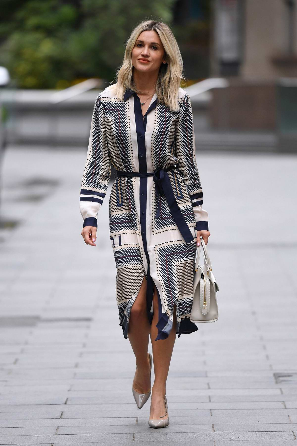 Ashley Roberts keeps it chic as she leaves Heart Radio in London, UK