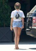 Ashley Tisdale walks her way down to Rolling Greens to do some shopping in West Hollywood, California