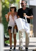 Brooke Burke is all smiles while out shopping with her boyfriend in Malibu, California