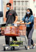 Camila Mendes and Grayson Vaughan pick up a few supplies at their local Home Depot in Los Angeles