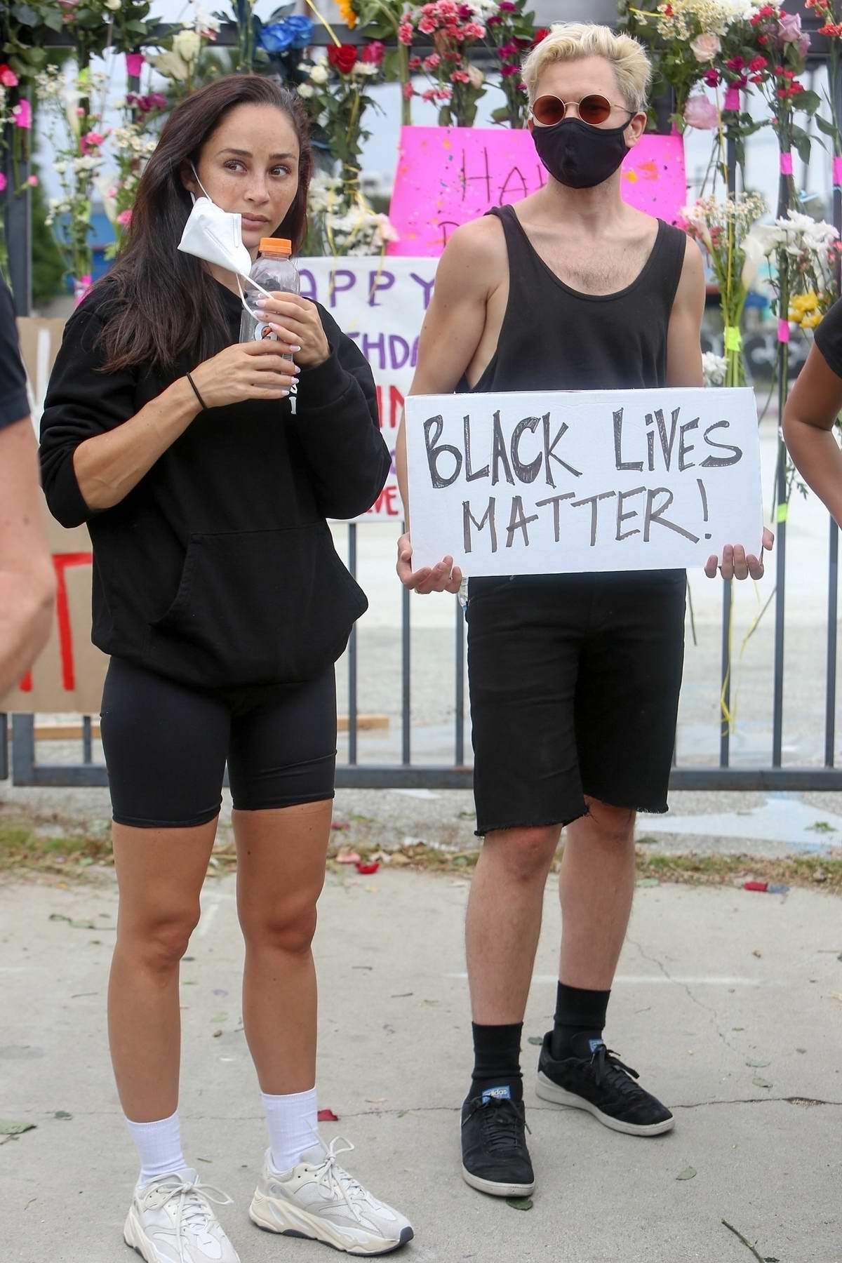 Cara Santana spotted at a peaceful 'Breonna Taylor' protest in Los Angeles