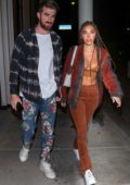 Chantel Jeffries steps out for a date night with boyfriend Andrew Taggart at Catch restaurant in West Hollywood, California
