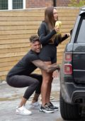 Charlotte Crosby gets in some PDA with her boyfriend during a car wash in Newcastle, UK