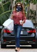 Cindy Crawford seen leaving the Cafe Habana after picking up food to go in Malibu, California