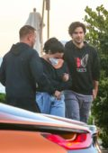 Demi Lovato and boyfriend Max Ehrich make a quick exit after dinner at Nobu in Malibu, California
