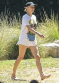 Diane Kruger and Norman Reedus enjoy a day with their daughter at the Park in Beverly Hills, California