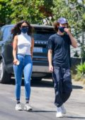 Eiza Gonzalez and Timothée Chalamet step out for a casual hike in Los Angeles