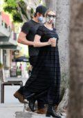 Emma Roberts and Garrett Hedlund get some breakfast to go at Larchmont Village in Los Angeles