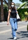 Emmy Rossum seen wearing mask as she steps out in Los Angeles