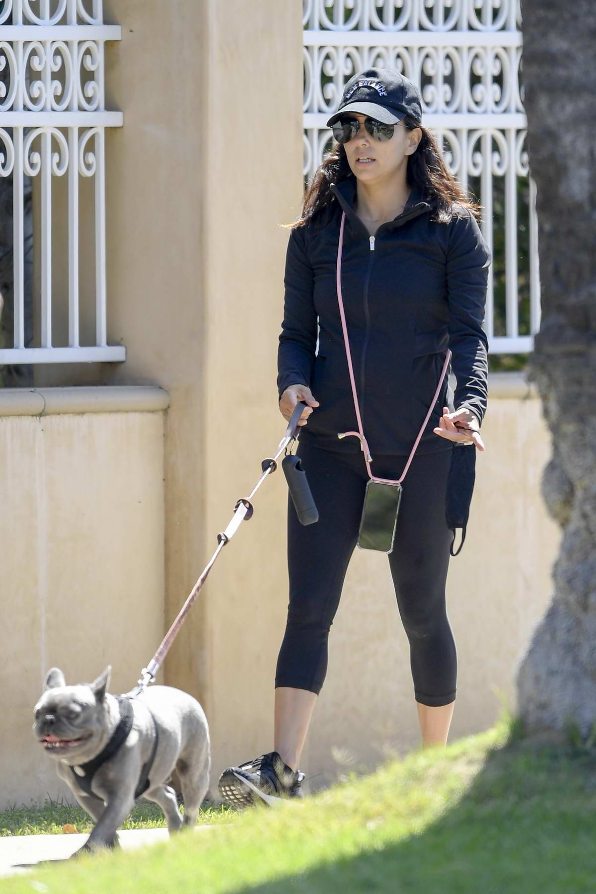 Eva Longoria spends the day at the park with her family in Beverly Hills, California