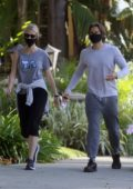 Gwyneth Paltrow and Brad Falchuk step out for an afternoon walk in Los Angeles