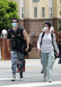 Halsey and Yungblud spotted together during the protests in Hollywood, California