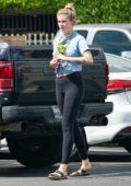 Ireland Baldwin joins the Van Nuys protest in Los Angeles