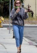 Ireland Baldwin keeps it casual in a hoodie and jeans while out in Los Angeles