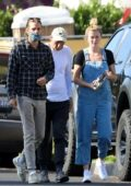Ireland Baldwin says goodbye after visiting her boyfriend Corey Harper's dad in West Hollywood, California